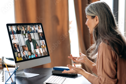 Tableau sur Toile Virtual meeting, online business meeting