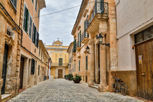 Spain, Menorca. Ciutadella Alleyway.