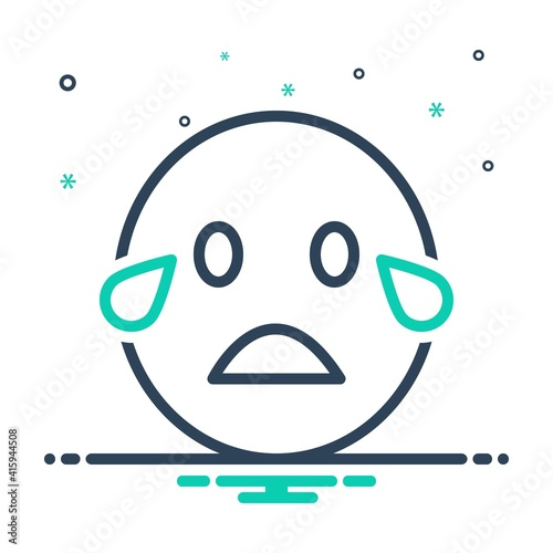 Obraz na plátně Mix icon for cry