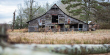 Old, Rustic And Weathered Barn Web Banner