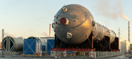 Reactor for the production of polypropylene in a newly built chemical plant. © Mike Mareen