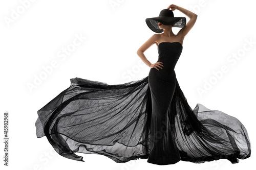 Canvastavla Woman Black Dress Fashion
