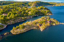Aerial View Of Island At The Southern Norwegian Coast East Of Kragero, Norway