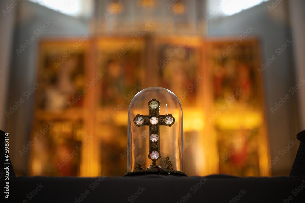 Fototapeta Kreuz im Glas