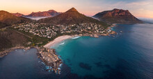 Panoramic Aerial View Llandudno At Sunset, Cape Town, South Africa