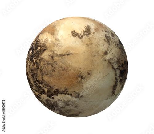 Fotografie, Obraz Pluto (Planet) isolated on white Background