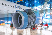Elimination Of Malfunctions In The Aircraft Engine In The Aircraft Hangar, Mechanical Repair, Check Of All Systems.