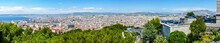 Extra Wide Aerial View Of Marseille And His Harbor