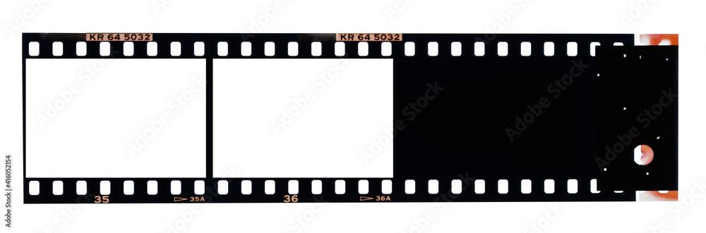 Fototapeta 35ミリ2枚端部のカラーポジフィルム