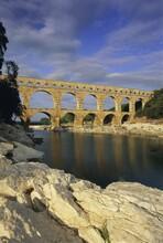Pont Du Gard, Roman Aqueduct, UNESCO World Heritage Site, Near Avignon, Provence, France, Europe