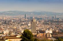 View Of Barcelona From Mirador Del Alcade, Barcelona, Catalunya (Catalonia) (Cataluna), Spain, Europe