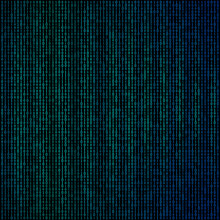 Design Elements - Binary Computer Code Halftone Pattern Dark Background. Vector Illustration Eps 10 Frame With Digital Data Cryptography Texture For Technology, Electronic, Network Algorithm