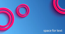 Abstract Background, Red Rings On A Blue Background, Wedding Rings