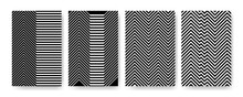 Set Of Geometric Patterns With Zigzag Style For Wallpaper, Fabric Texture, Posters Or Banners.