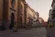 Hermosa calle en el centro de Querétaro México, dentro de la zona turística de la ciudad especial punto para turistas