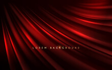 Red Silk Background With Wave Effect