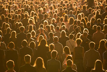 Anonymous Crowd Of People During Concert