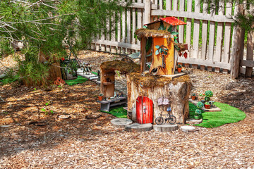 House of fairy tale characters fairies and elves
