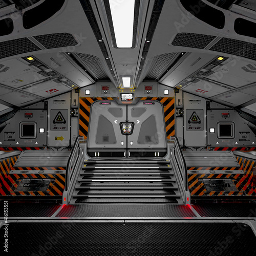 inside the master spaceship in white background