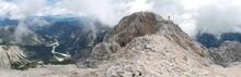 The Top Of Jôf Di Montasio Mountain In The Julian Alps In Italy