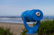 Newport, Oregon, USA, June 10, 2020. Travel telescope. Look at the Pacific coast.
