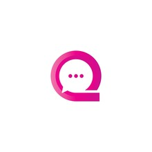 Q Chat Logo Icon Symbol Icon Illustration