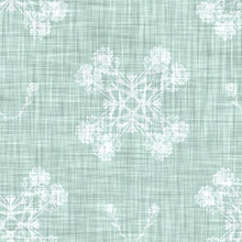Aegean Teal Mottled Flower Linen Texture Background. Summer Coastal Living Style 2 Tone Fabric Effect. Sea Green Wash Distressed Grunge Material. Decorative Floral Motif Textile Seamless Pattern