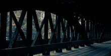 Old Timbers Inside A Covered Bridge