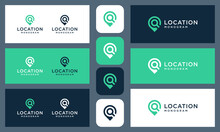 An Inspired Logo That Combines The Location Shape And The Initial Letter Q With An Abstract Style.