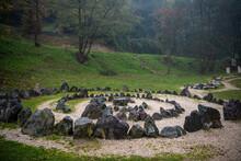 Bosnian Pyramids, Near The Visoko City, Bosnia And Herzegovina, Pyramid Of The Sun. Stone Maze Park Inside Pyramid, A Place For Tourists To Meditate And Rest. Visoko, Bosnia And Herzegovina 24.10.2020