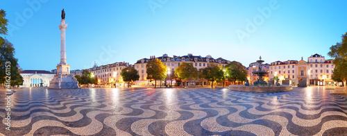 Panorama of Rossio square at night © TTstudio
