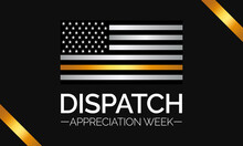 Vector Illustration On The Theme Of Dispatch Appreciation Week Observed Each Year During April Across United States.