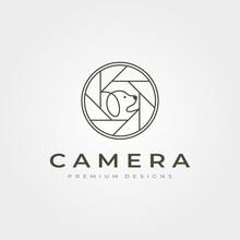 Camera Lens Pet Photography Logo Vector Icon Symbol Illustration Design