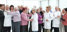 Patients Hug Doctors As A Sign Of Gratitude