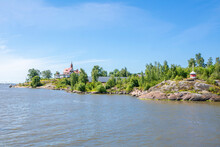 View To Luoto (Klippan) Island, Coastal Part Of Helsinki And Gulf Of Finland In Summer, Finland