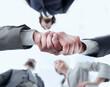 Leinwandbild Motiv bottom view.business handshake