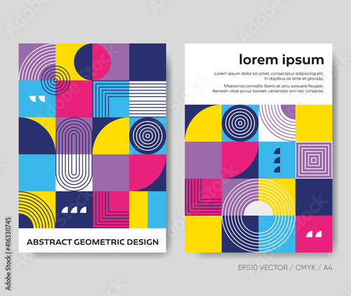 Trendy abstract geometric design creative vector brochure template #416330745