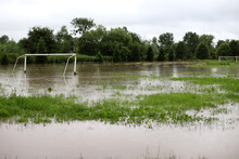 Flooded Field During The Rains