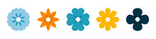 Flowers. Flowers Vector Icons, Isolated In Flat Design. Flower In Modern Color. Vector Illustration