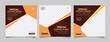 Coffee shop social media post template square banner