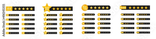 Fotografia Star rating with numbers