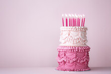 Ornate Vintage Buttercream Birthday Cake
