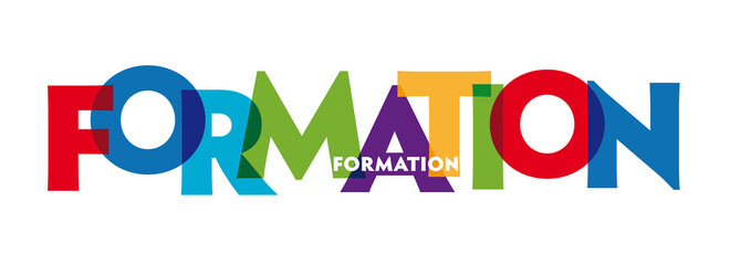 The word formation - vector of stylized colorful font