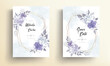 Wedding invitation card with beautiful soft flowers