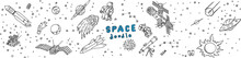 Doodle Cosmos Hand Drawn Illustration Set, Design Elements For Any Purposes