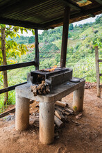 Traditional Wood Stove Of Costa Rica