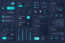 Neomorphic Neomorphism Neomorph Style Design Buttons Elements White And Black Ui Ux Kit Web Mobile Application Apps Interface Shapes Bar.