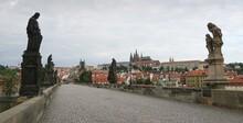 Charles Bridge With Hradcany In Prague Czech Republic