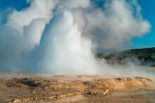 A Not So Faithful Geyser At Yellowstone Erupting Again