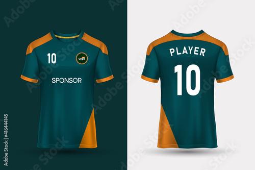 Obraz na płótnie T-shirt sport design template for soccer jersey, football kit and tank top for basketball jersey